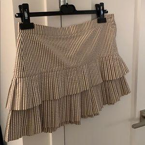 BCBG beige gingham skirt